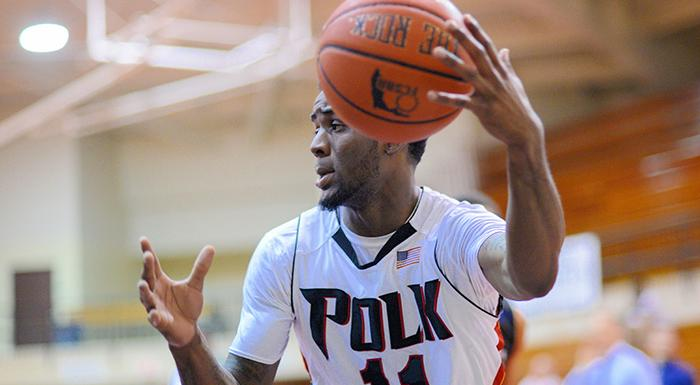 Bernard Samuel had 20 points and five rebounds in today's road win. (Photo by Tom Hagerty, Polk State.)