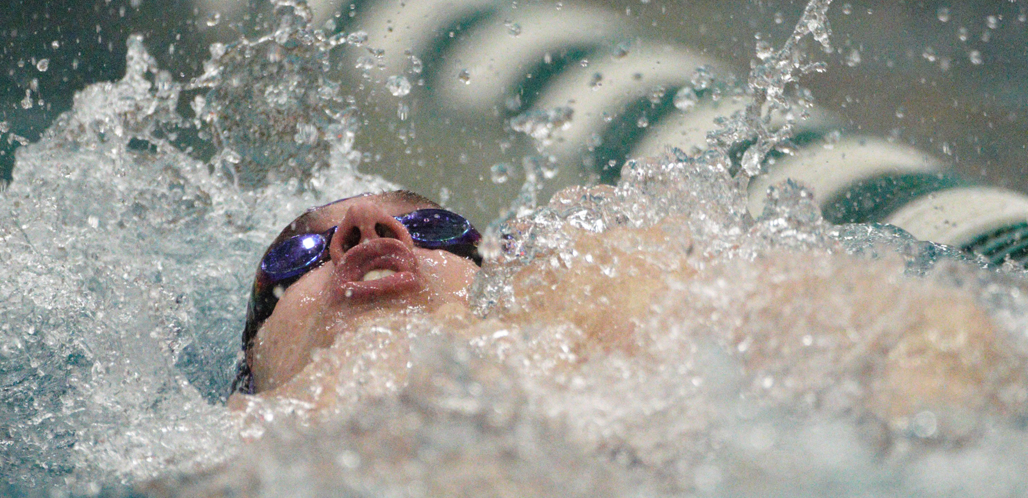 Sophomore Matt Mills won the 200 backstroke and 50 freestyle on Saturday.