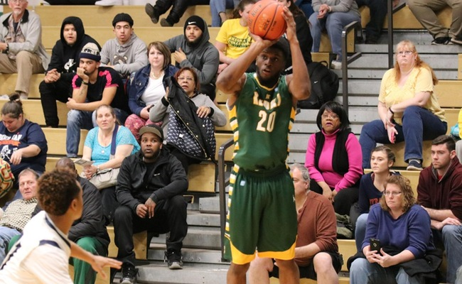 Trevor Powell (20) recorded a double-double on Saturday with 16 points and 11 rebounds -- Photo by Abdul Alhumayni