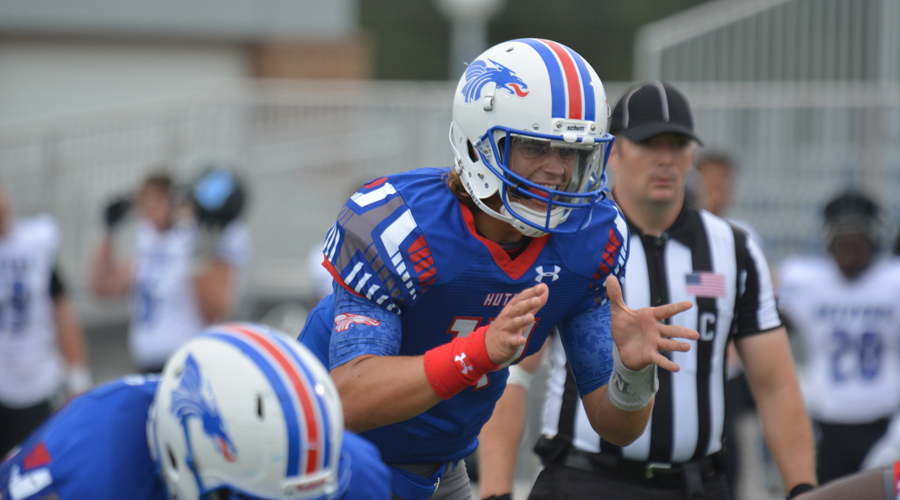 Mason Schucker and the No. 12 Blue Dragons play host to Fort Scott at Noon Saturday at Gowans Stadium. (Bre Rogers/Blue Dragon Sports Information)