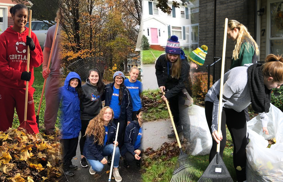 Athletes off the Field: Student-athletes at several schools lend a helping hand to communities in annual leaf rake