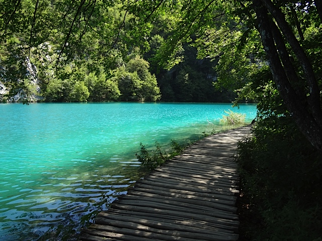 A path along the beautiful waters of Plitvicka National Park