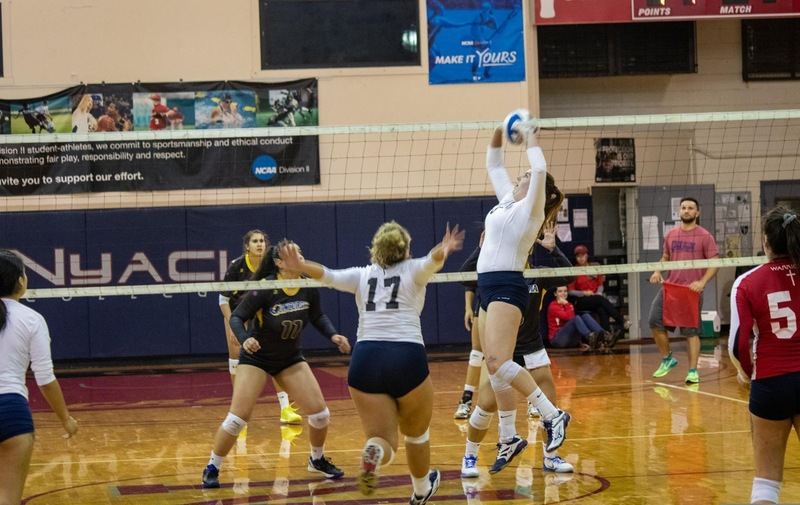 Volleyball Finishes Season with CACC Quarterfinal Loss to Georgian Court