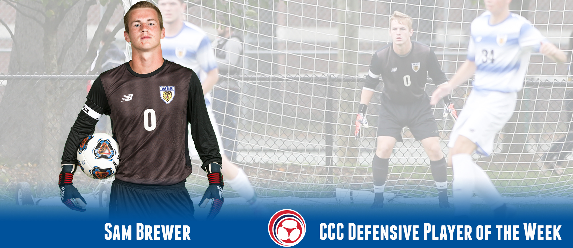 Sam Brewer Named CCC Defensive Player of the Week