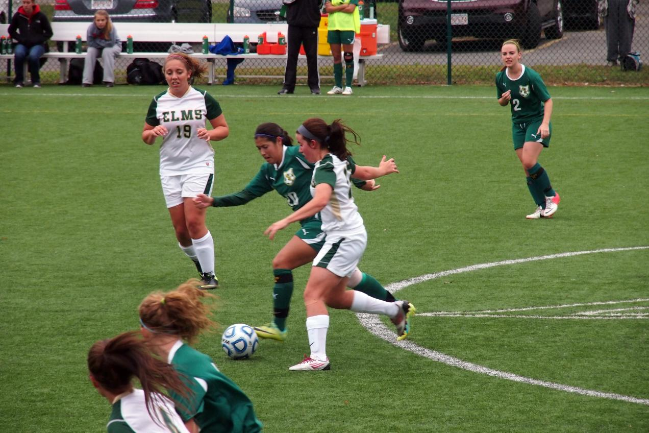 Marino Nets Two as Women's Soccer Tops Bay Path College, 3-0
