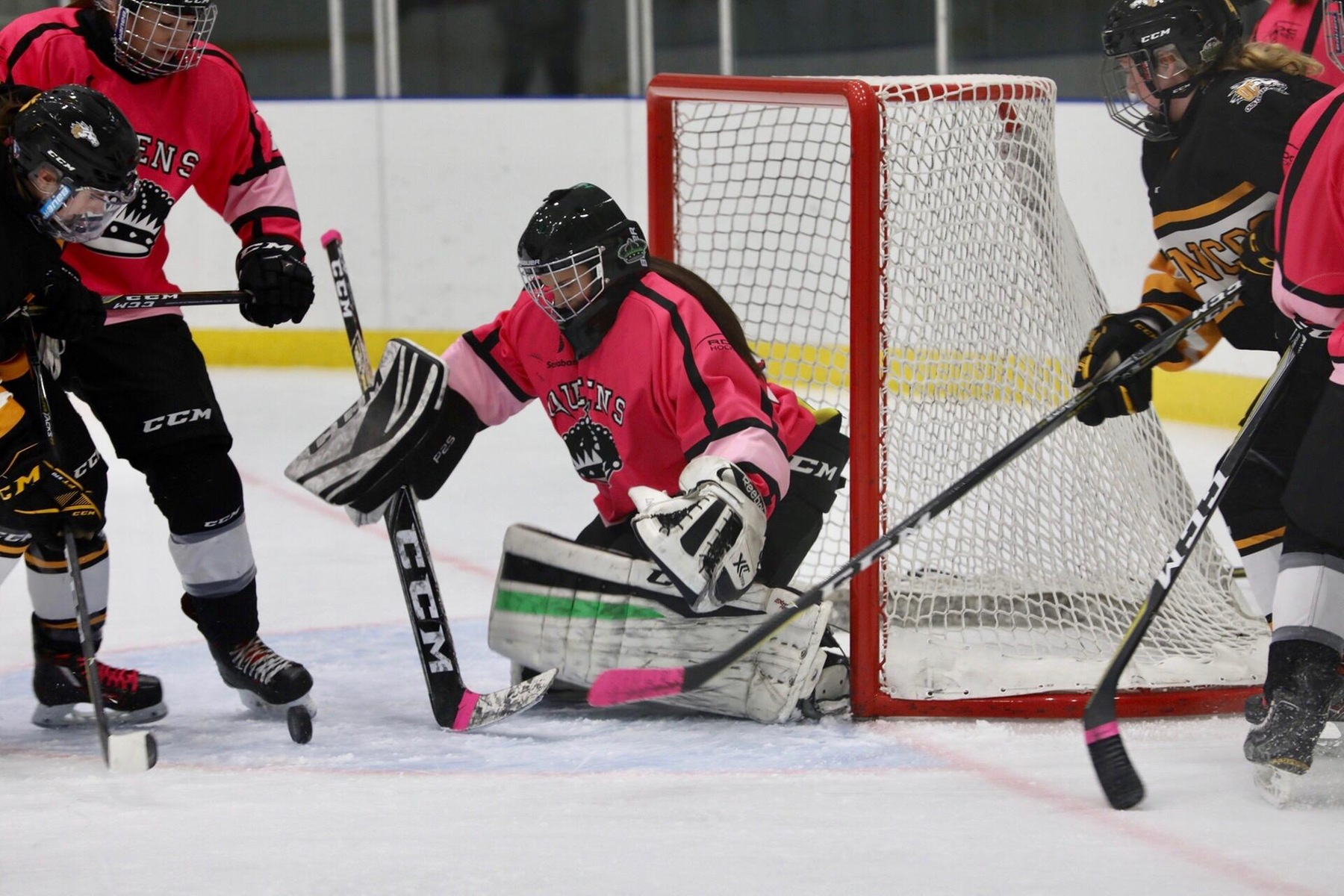 Nisa Bartlett (33) made 17 saves in the victory. Picture - Colby Brochu Photography