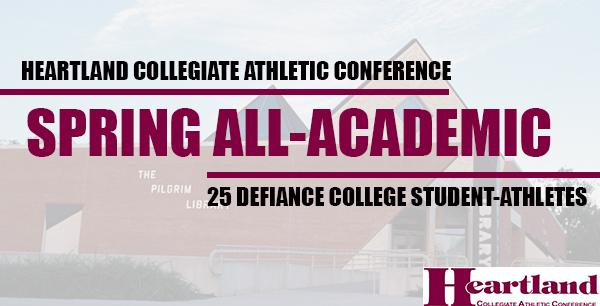 25 Defiance Student-Athletes Claim All-HCAC Academic Honors