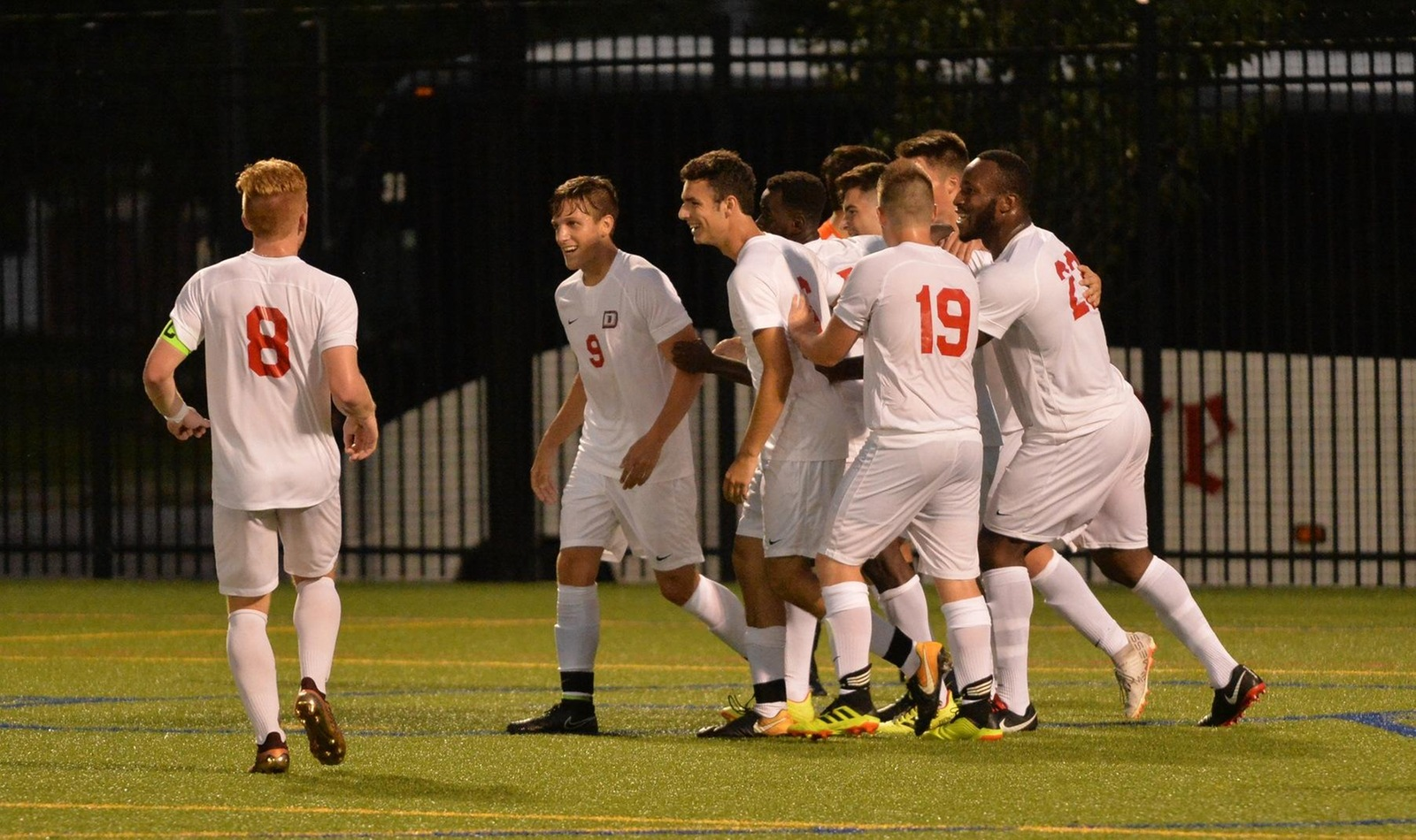 Men Score Four and Shutout Hawks for Fourth Conference Win