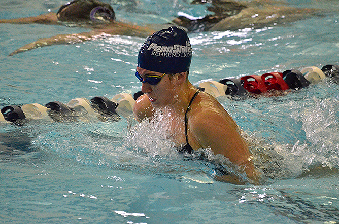 Horn Shines at AMCC Swimming and Diving Championships