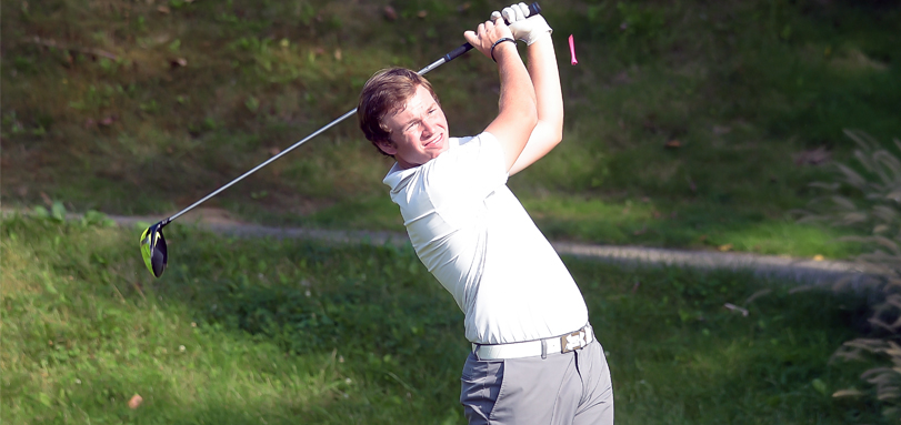 Scott Schroeder shot a school record round of 65 on day two of the OAC Championships