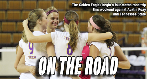 Golden Eagle volleyball begins a four-match road trip this weekend against Austin Peay and Tennessee State