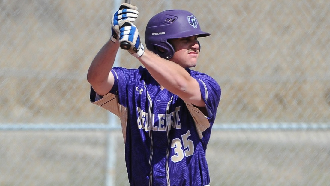 Riley Baasch drilled his team-leading fourth home run in game two of Sunday's double-header