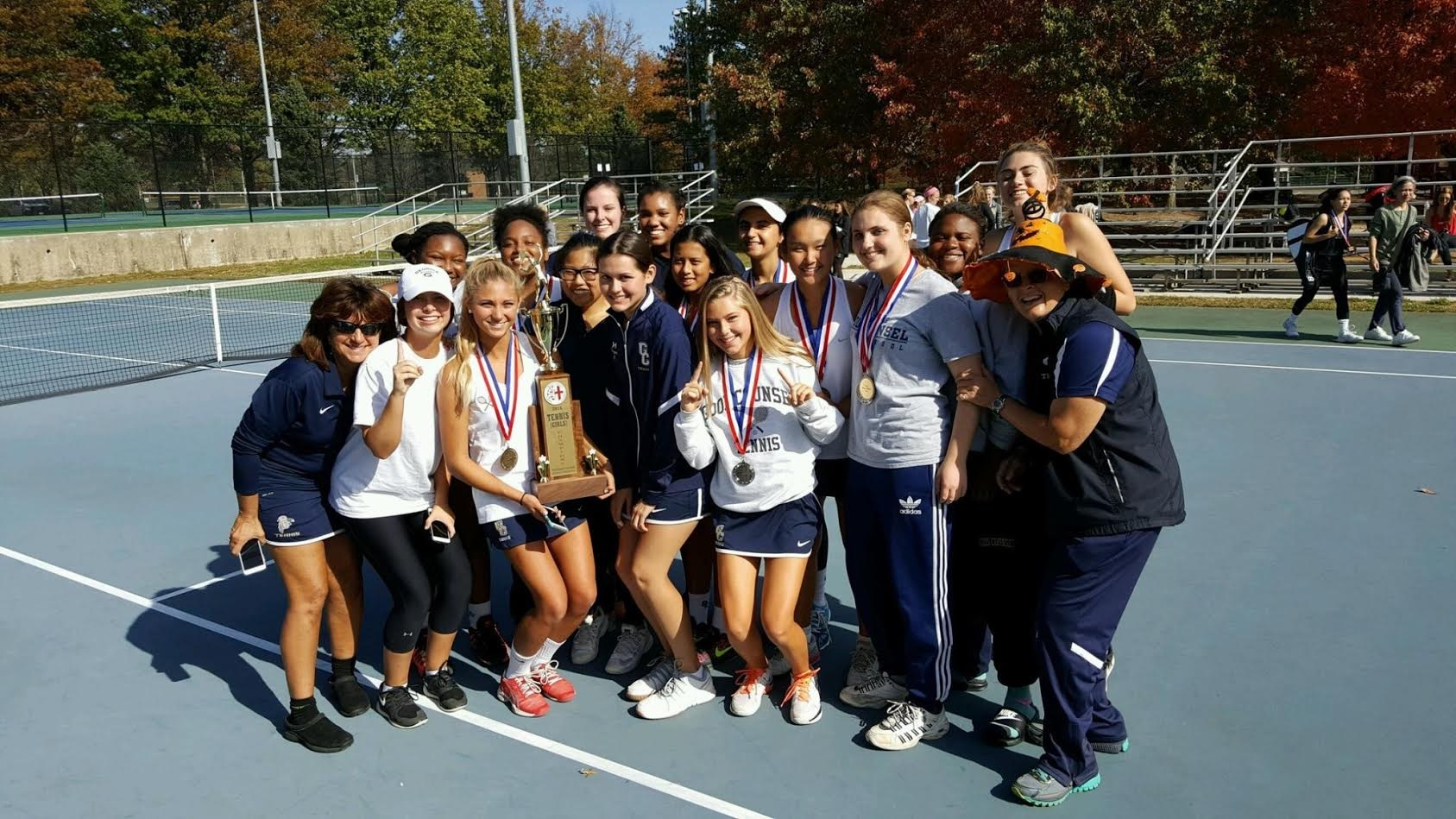 2016 Girl's Tennis Champions   Good Counsel