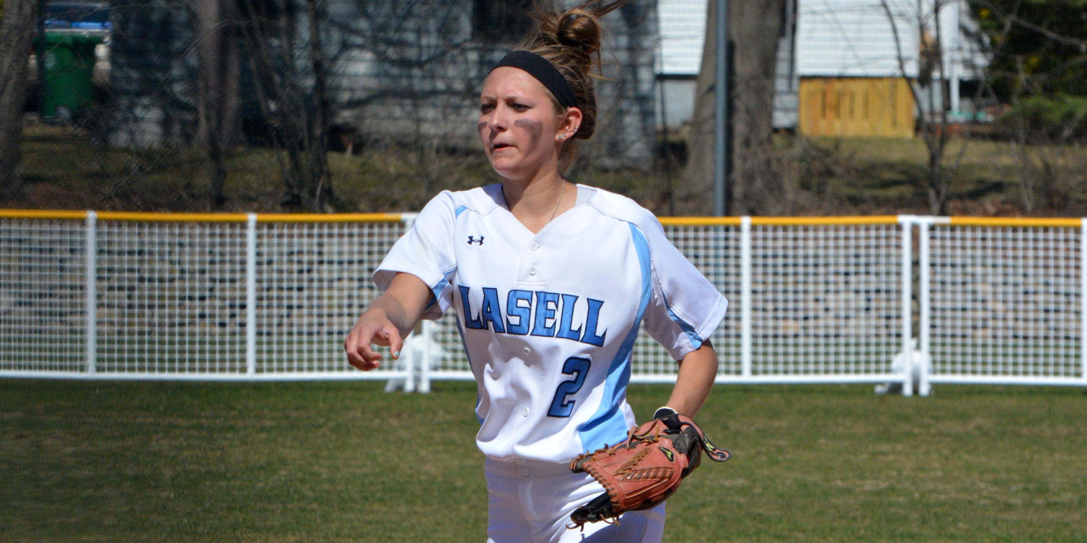 Simmons' Hot Hitting Defeats Lasell 11-0, 11-2