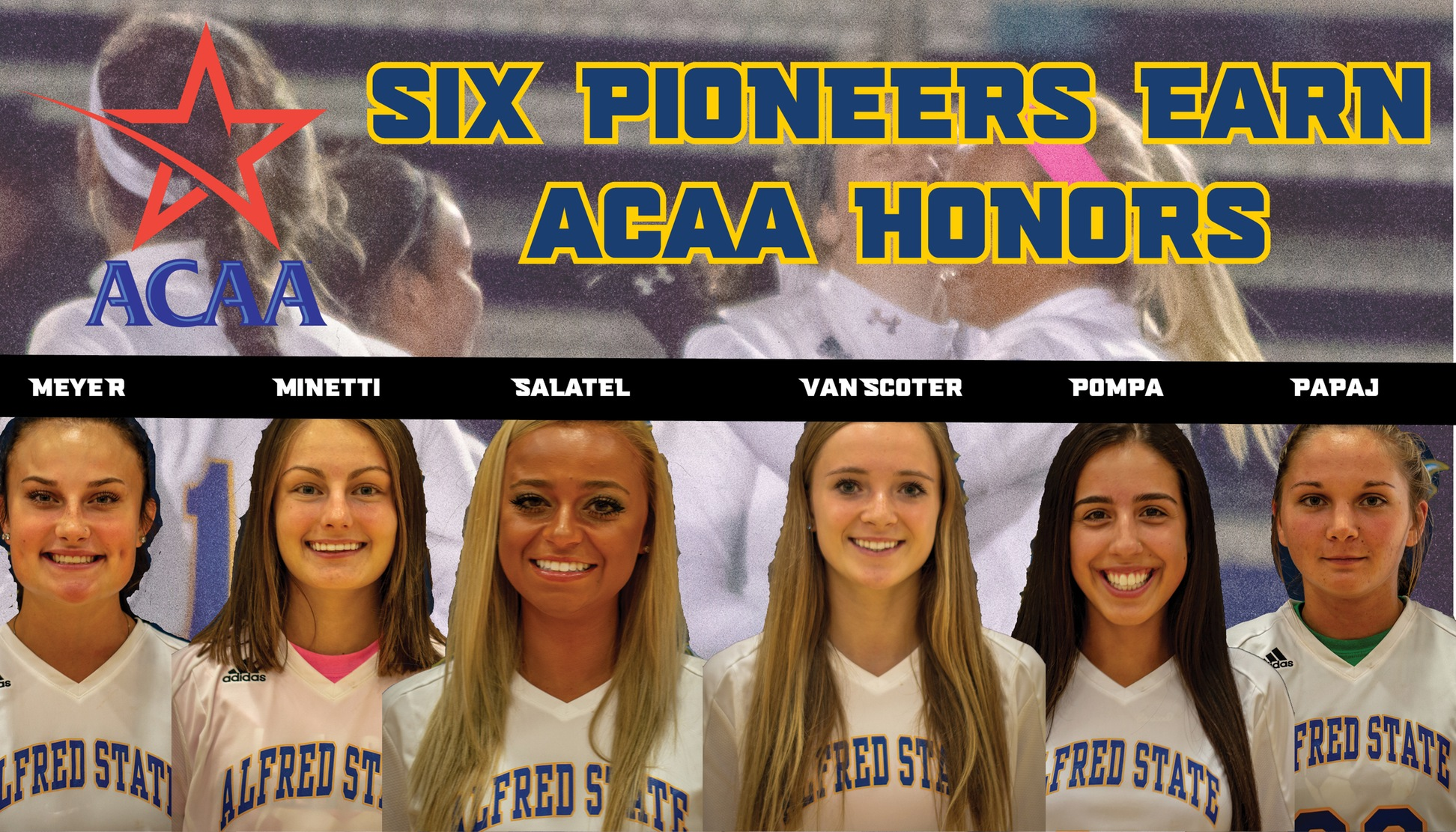 Six Pioneers named All-ACAA