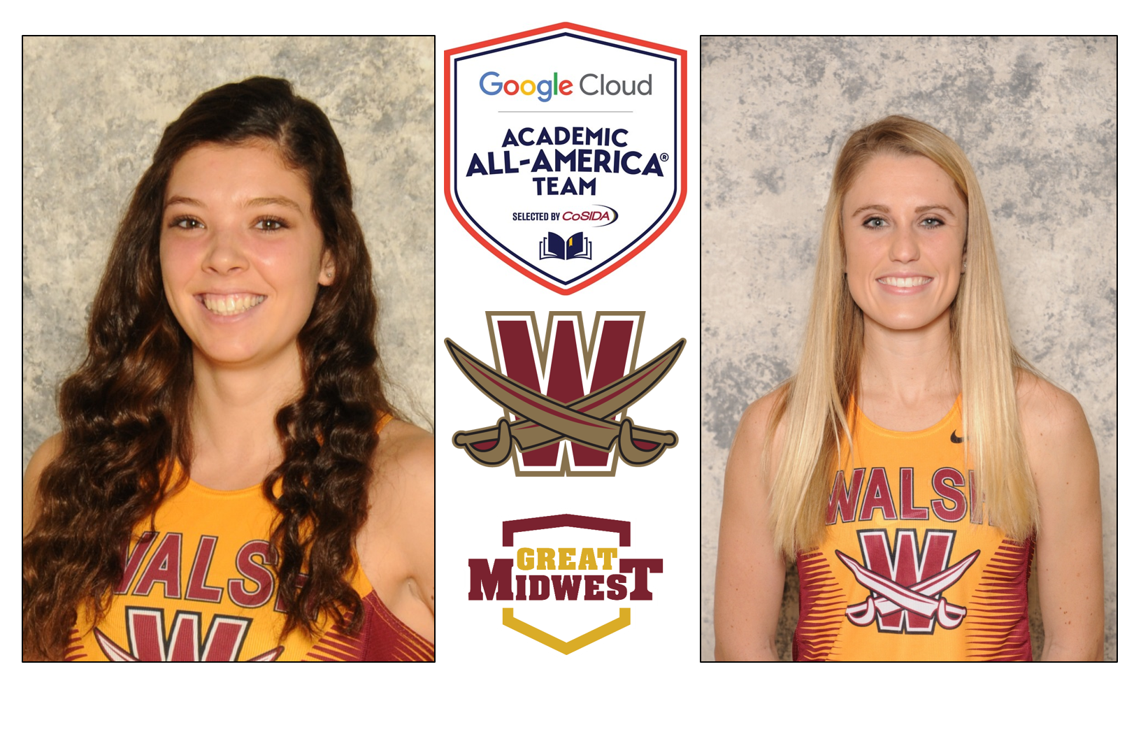 Barber, Berger Placed On Google Cloud Academic All-American First Team by CoSIDA
