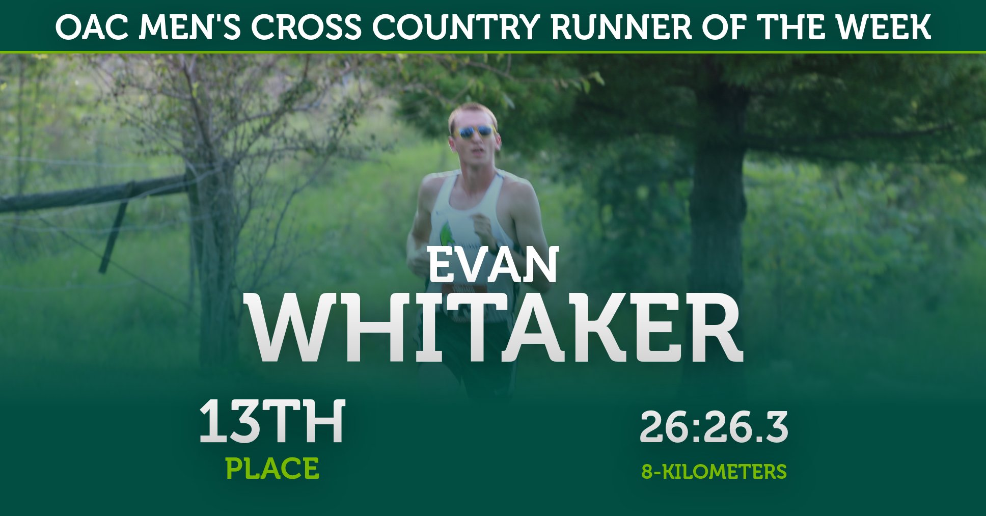 Evan Whitaker Named OAC Men's Cross Country Runner of the Week