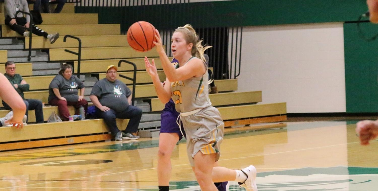 Sam Laranjo (21) had 12 points, 7 rebounds, 4 assists, and 4 steals for Keuka