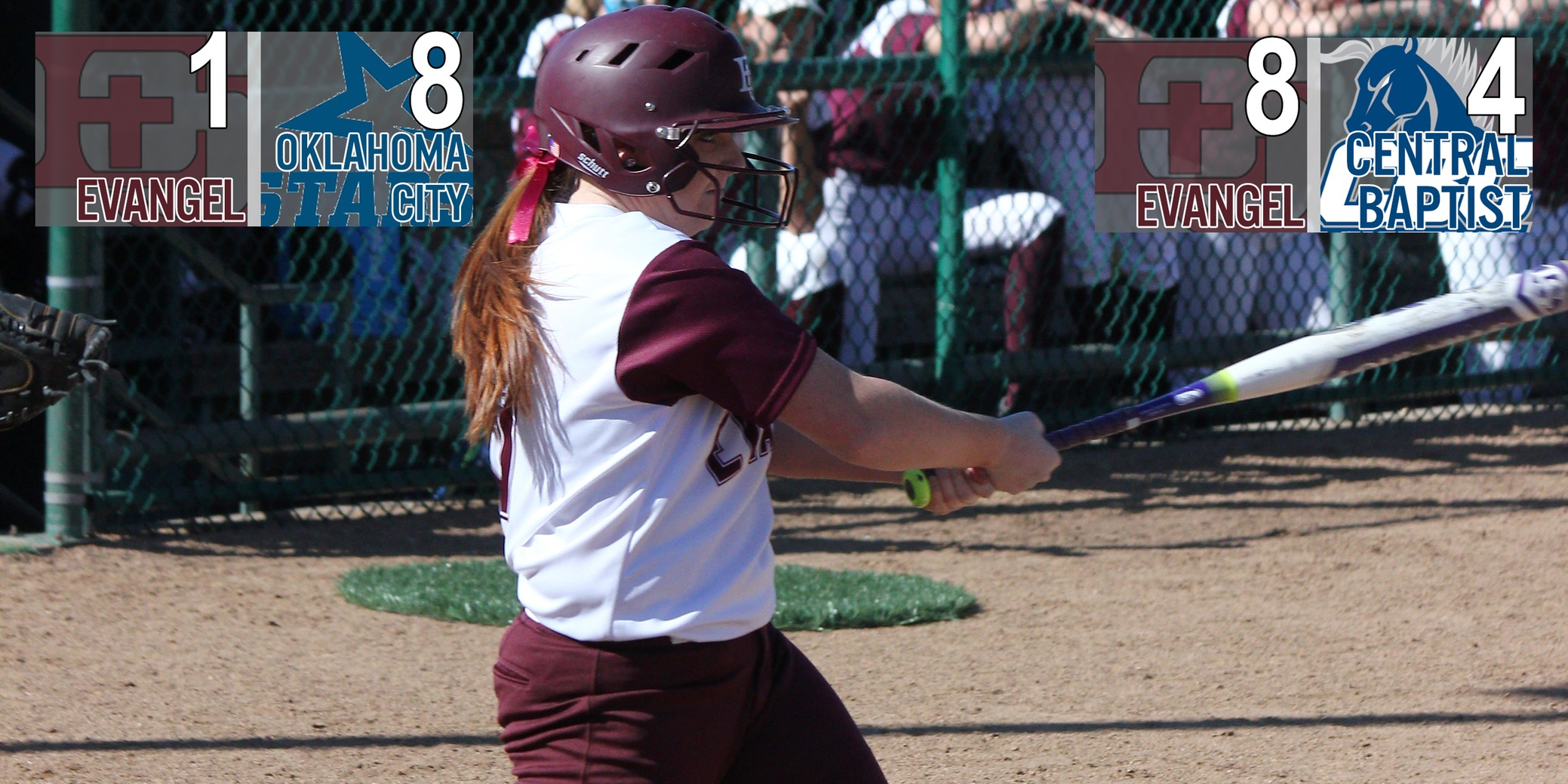 Evangel Softball Earns Split on Final Day of Tournament