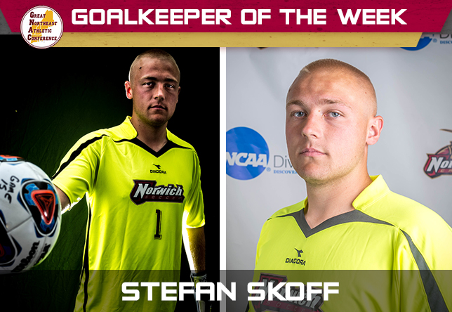 Men's Soccer: Skoff named GNAC Corvias Goalkeeper of the Week