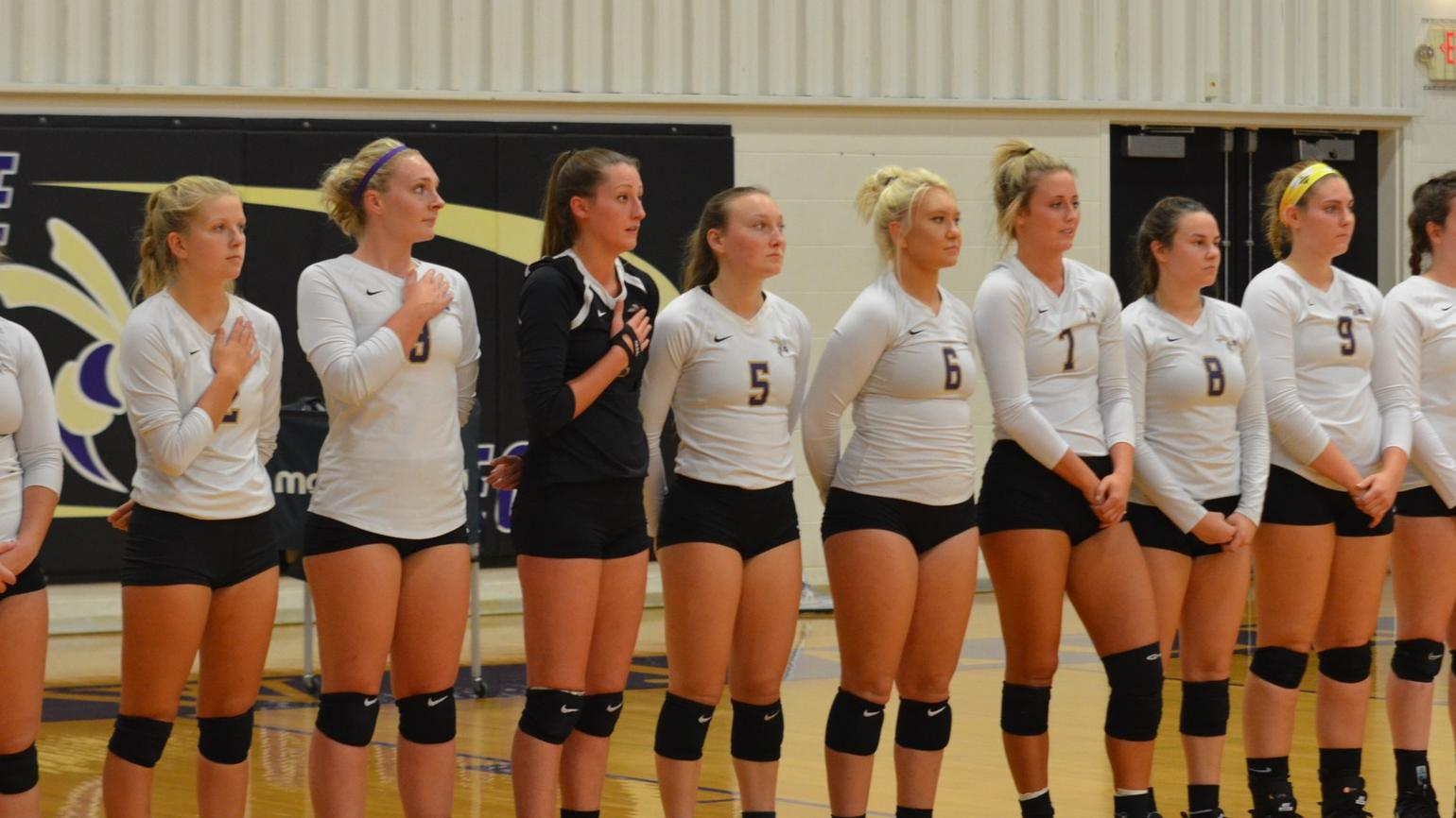 Yellow Jackets Drop Five Set Thriller at Anderson