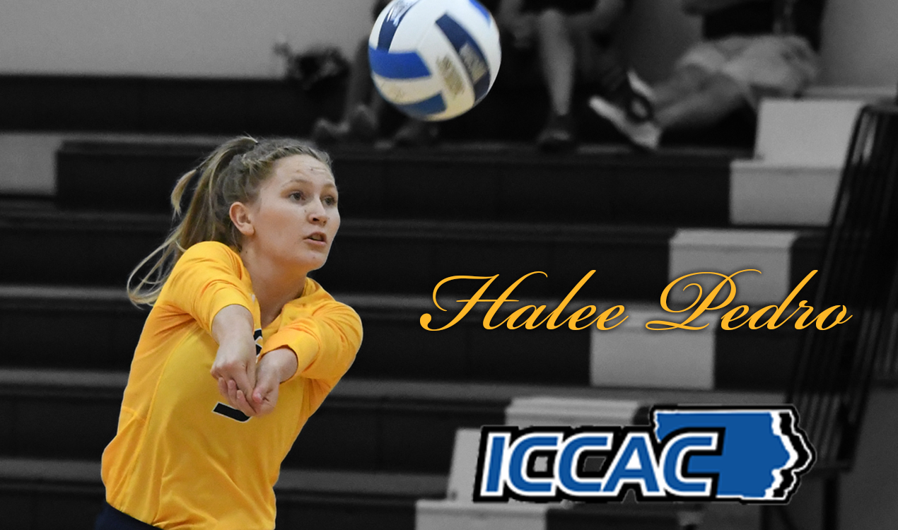 Halee Pedro earns ICCAC volleyball honors