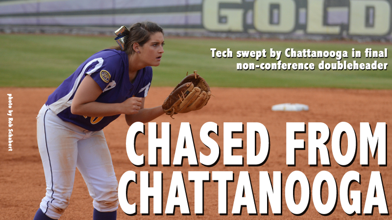 Tech swept in doubleheader at Chattanooga in last non-conference twin bill of the year