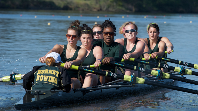 ROWING PLACES SECOND IN ITS HEAT, ADVANCES TO SATURDAY'S DAD VAIL REGATTA SEMIS
