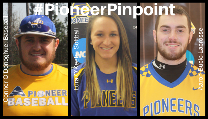 O'Keefe, Odonoghue, and Buck Share #PioneerPinpoint Honors