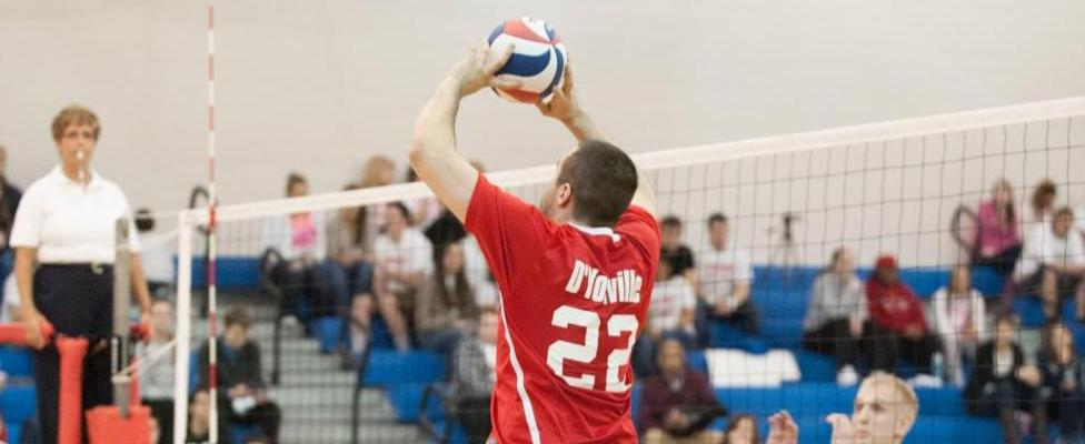 Men's Volleyball Rallies for Five Set Win