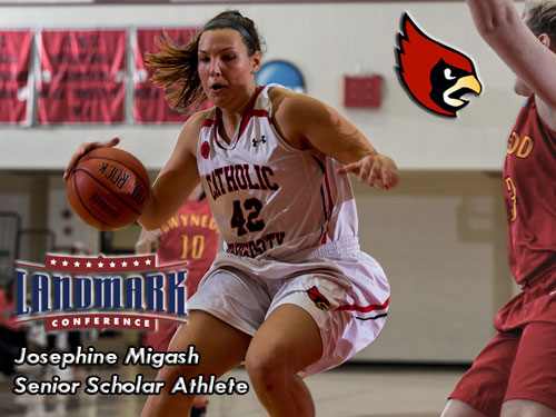 Migash Selected as Landmark Conference Senior Scholar Athlete