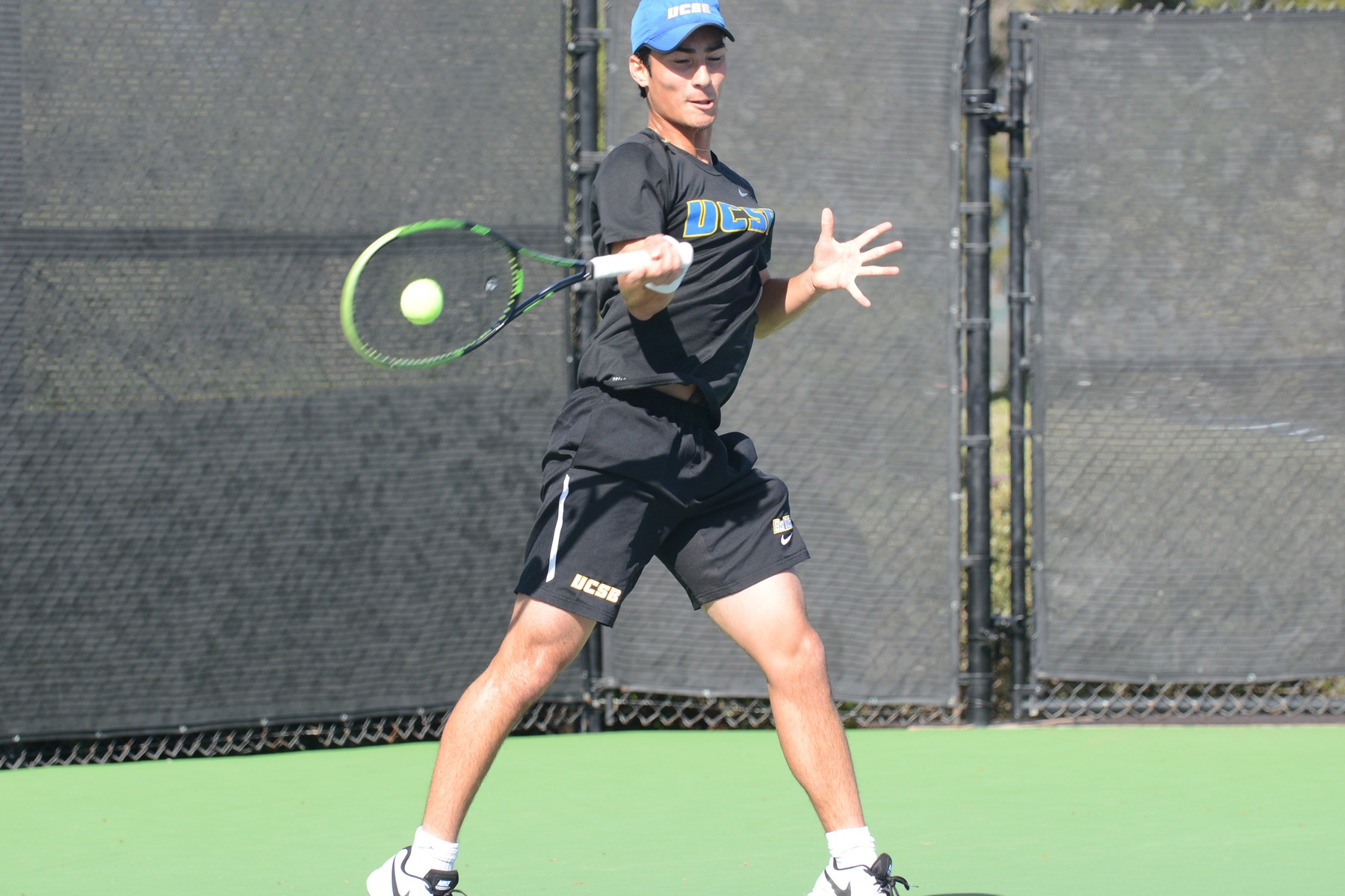 Simon Freund clinched the victory for Santa Barbara on Friday taking the final singles match with a final score of 6-0, 6-1.