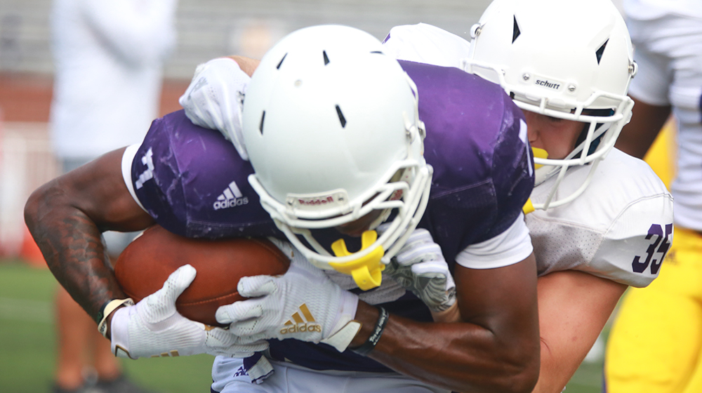Fall camp ramps up as Golden Eagles strap into the pads for the first time