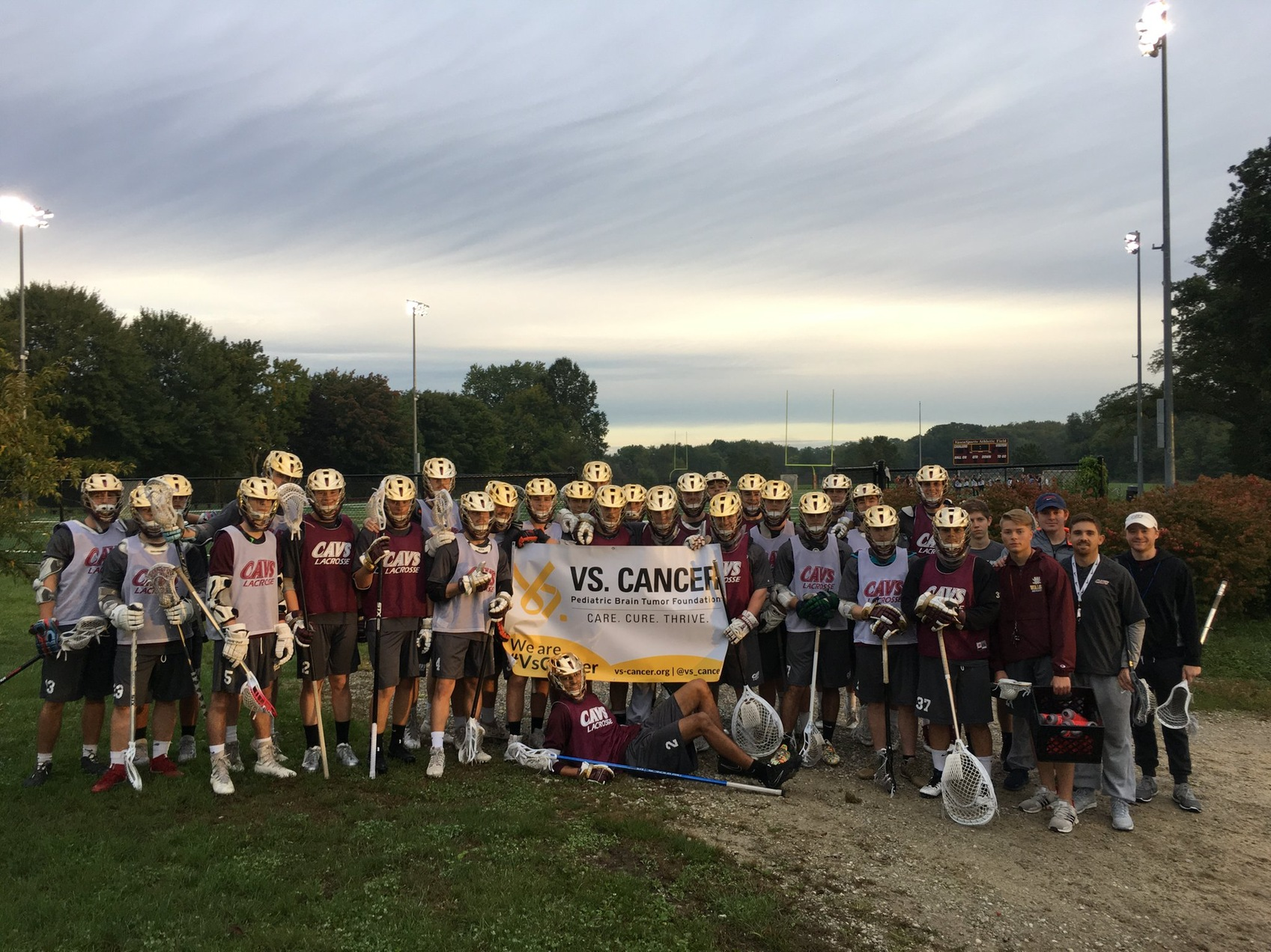 Lacrosse Ready to 'Crosse Out Cancer' On Sunday