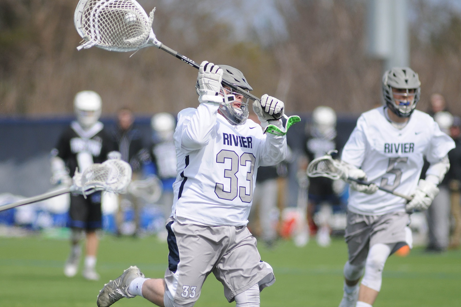 Men's Lacrosse: Raiders tripped up at home by UMass-Boston