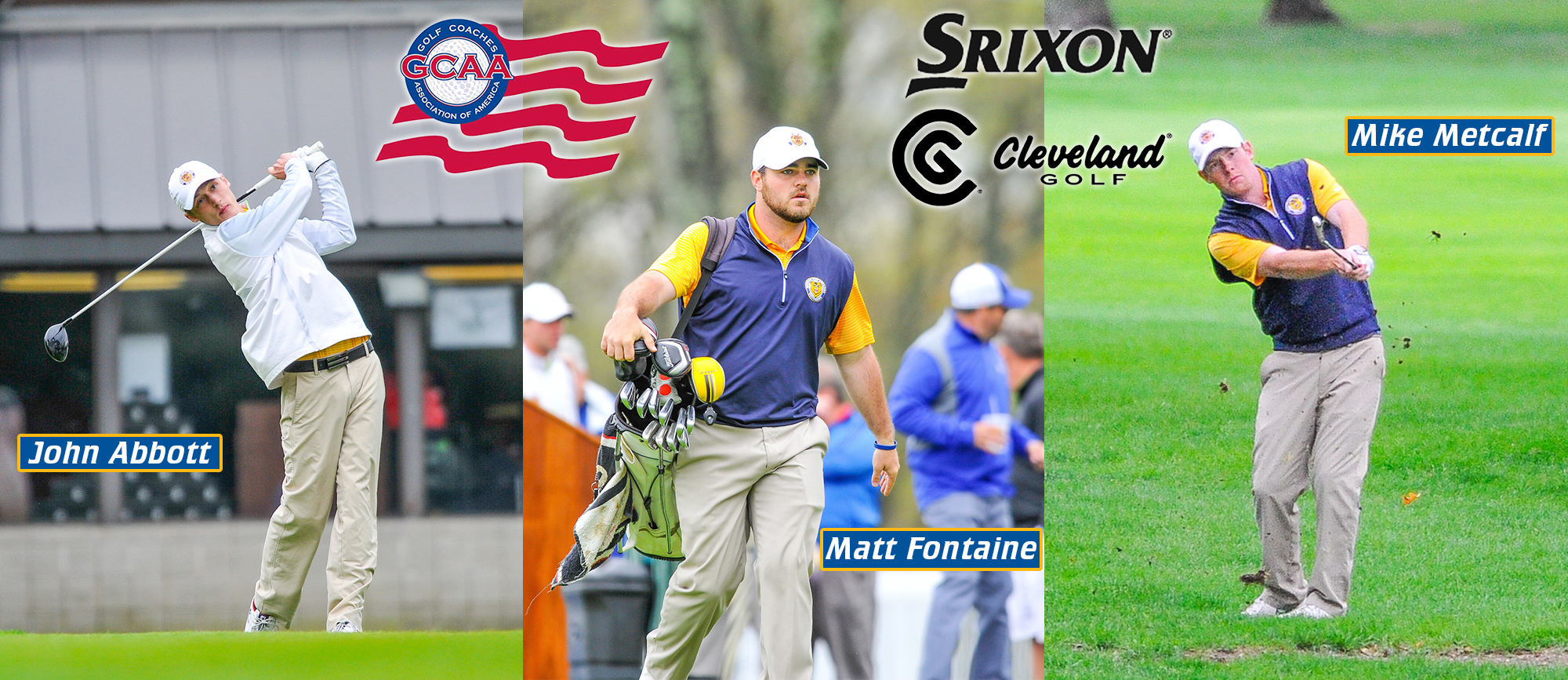Abbott, Fontaine & Metcalf Earn All-America Scholar Honors From the GCAA