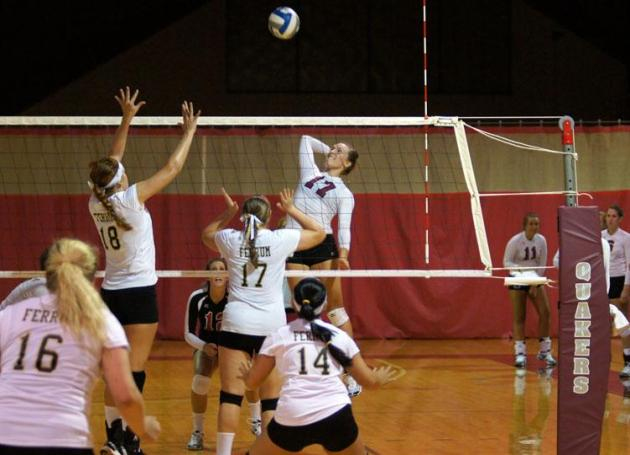 Volleyball Team Overcomes Ferrum in Home Opener