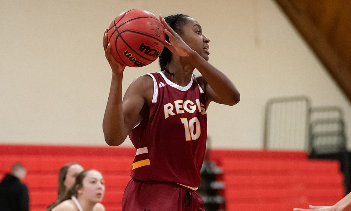 Regis Women's Basketball Loses at Suffolk
