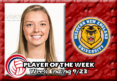 Ashley Matthews-Western New England, Women's Volleyball: Player of the Week