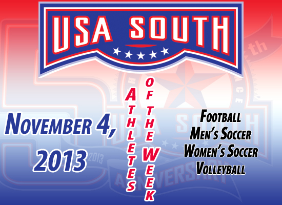 USA South Athletes of the Week - Nov. 4, 2013