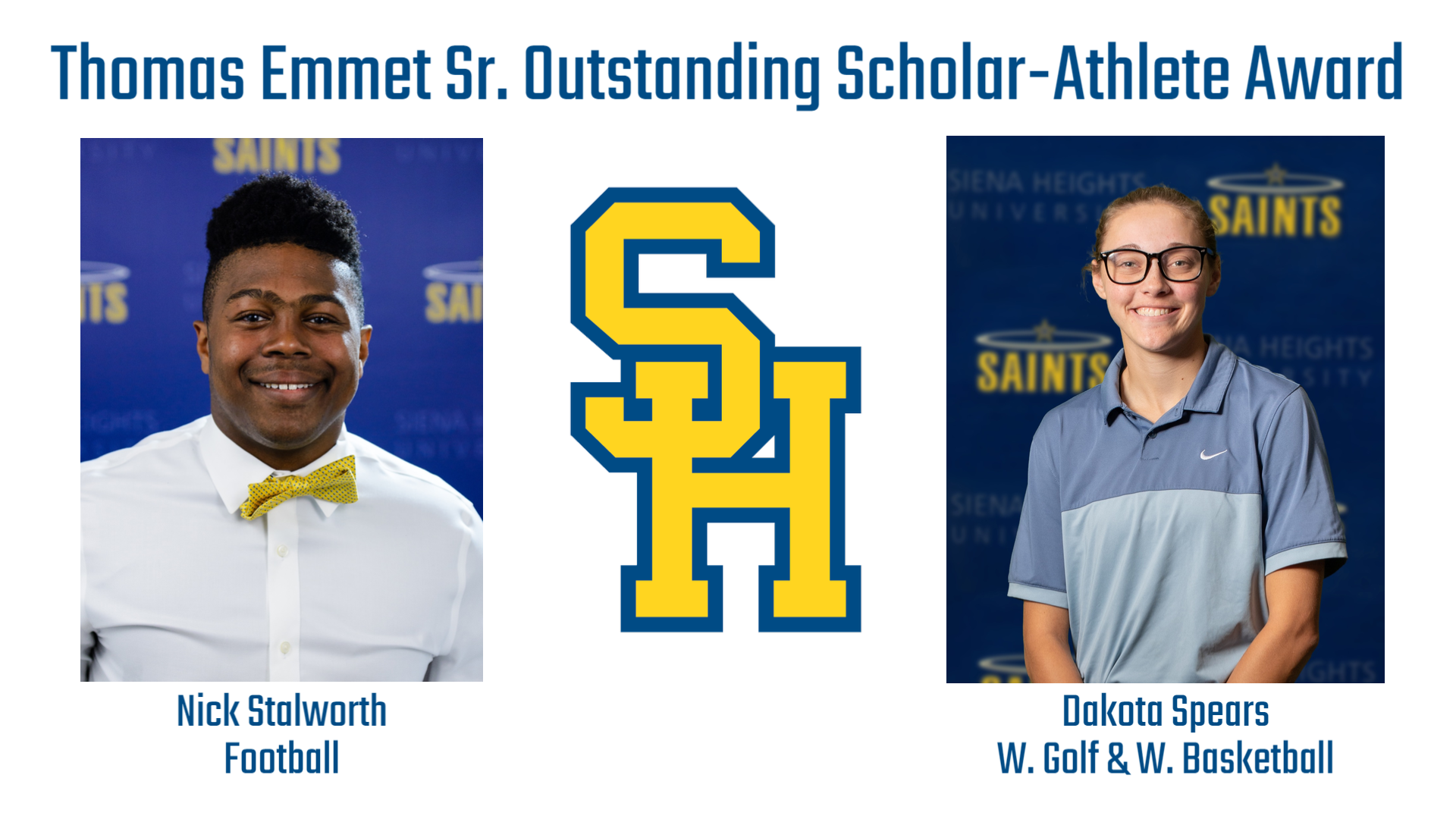 Nick Stalworth and Dakota Spears Awarded Annual Thomas Emmet Sr. Award