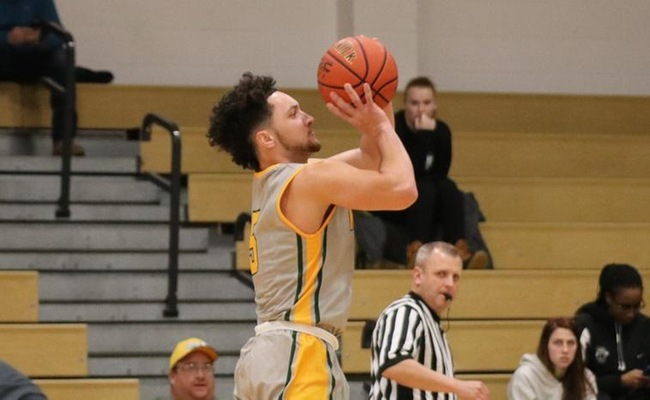 Greg Tyler (5) hit four threes, including two in overtime for Keuka College
