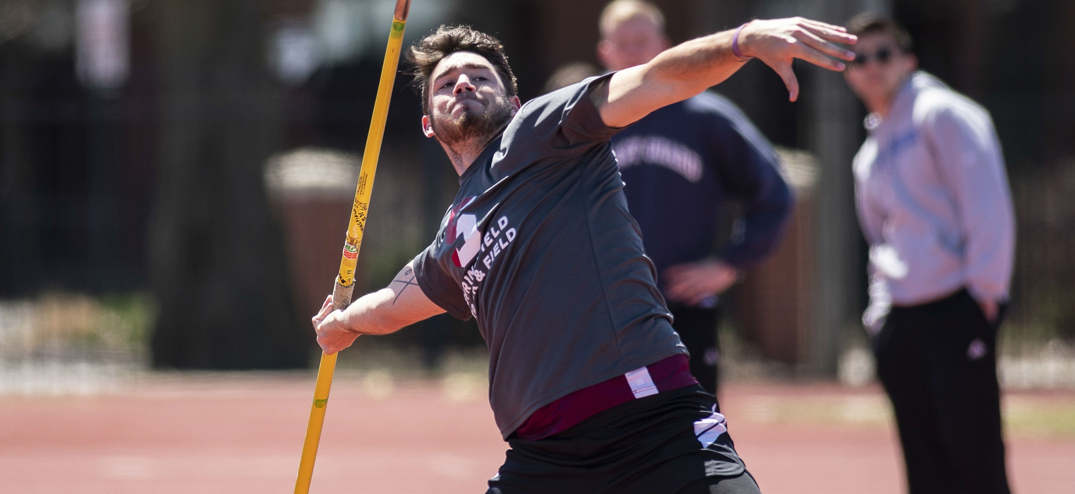 DeVaux Competes in the Javelin at MIT Final Qualifying Meet