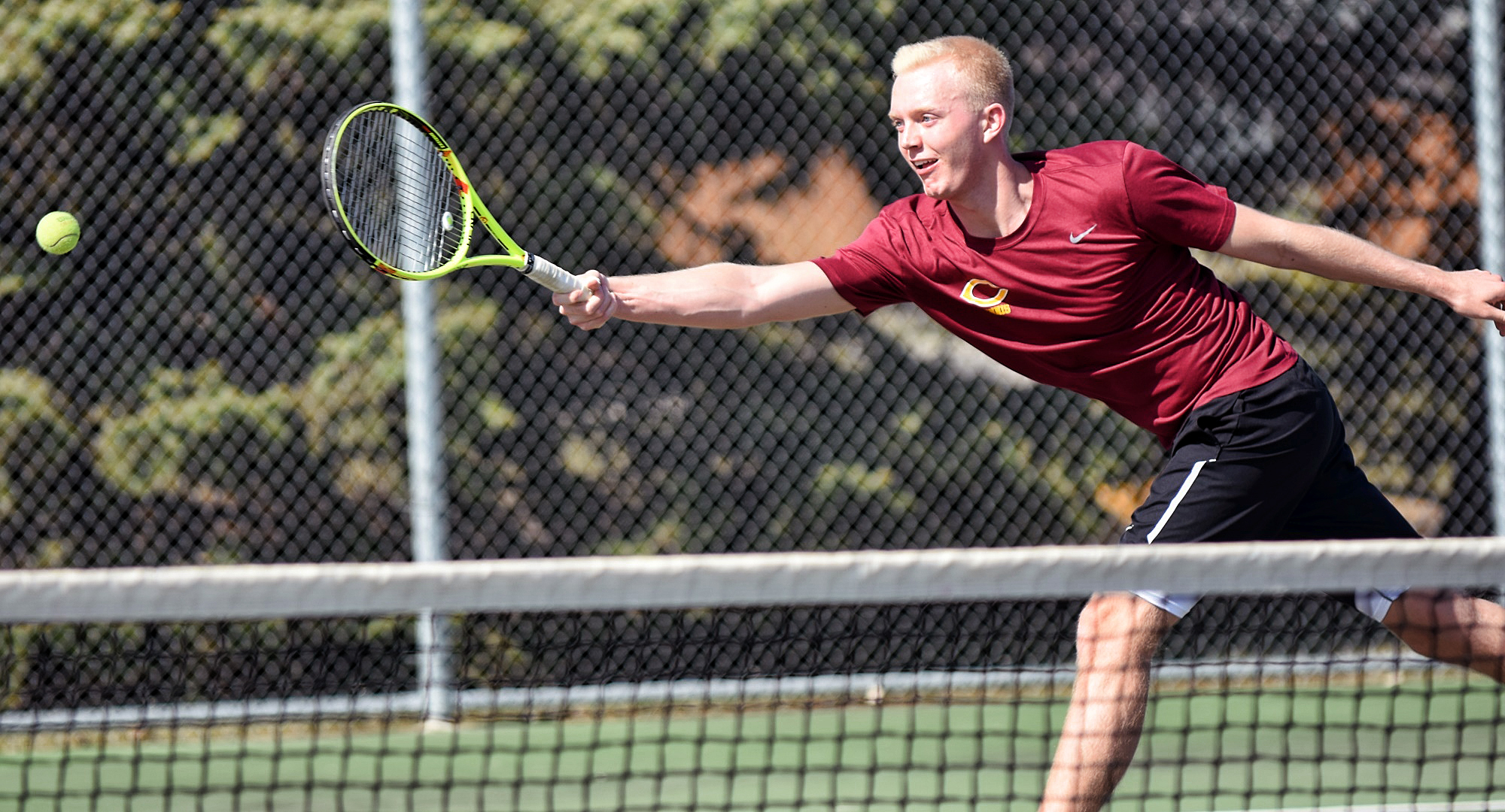 Junior Jared Saue earned two of the Cobbers' three wins on opening weekend. He won his singles match on Saturday and then claimed a doubles win with Erik Porter on Sunday.
