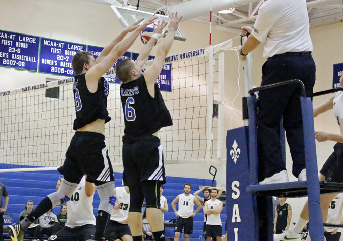 No. 15 Saints top reigning CVC champion Mustangs for first time in program history