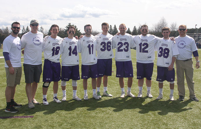 Men's Lacrosse Defeats AIC on Senior Day, Loughlin and Richmond Break Records