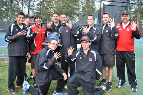 Men's Tennis Wins Fourth Straight NECC Championship