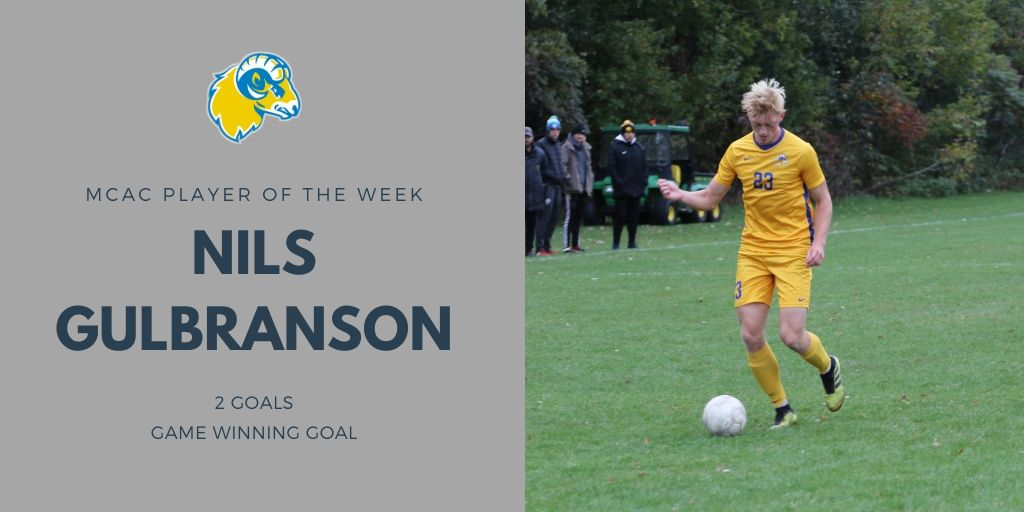 Gulbranson Named MCAC Player of the Week