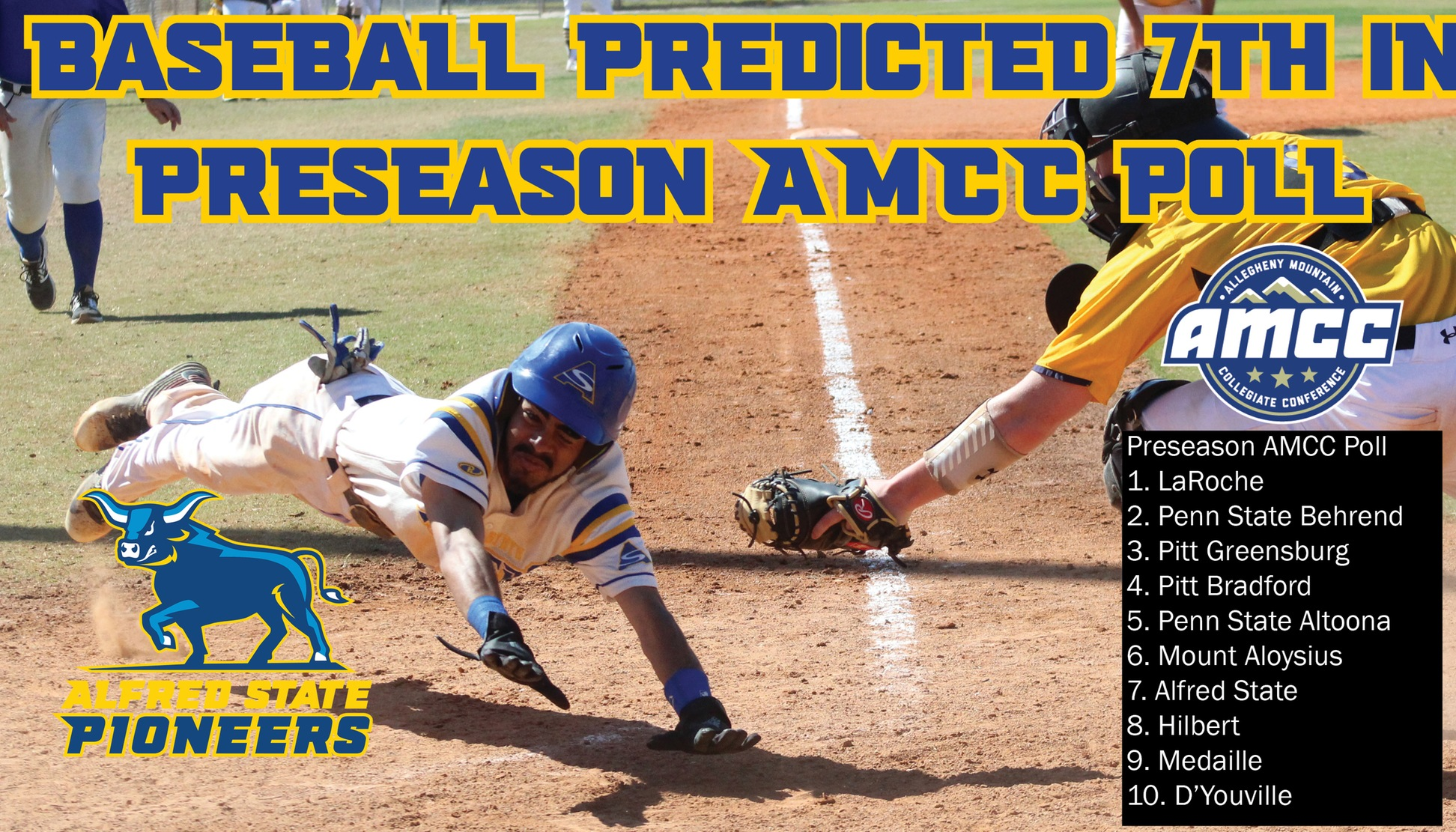 Baseball Predicted 7th in Preseason Poll