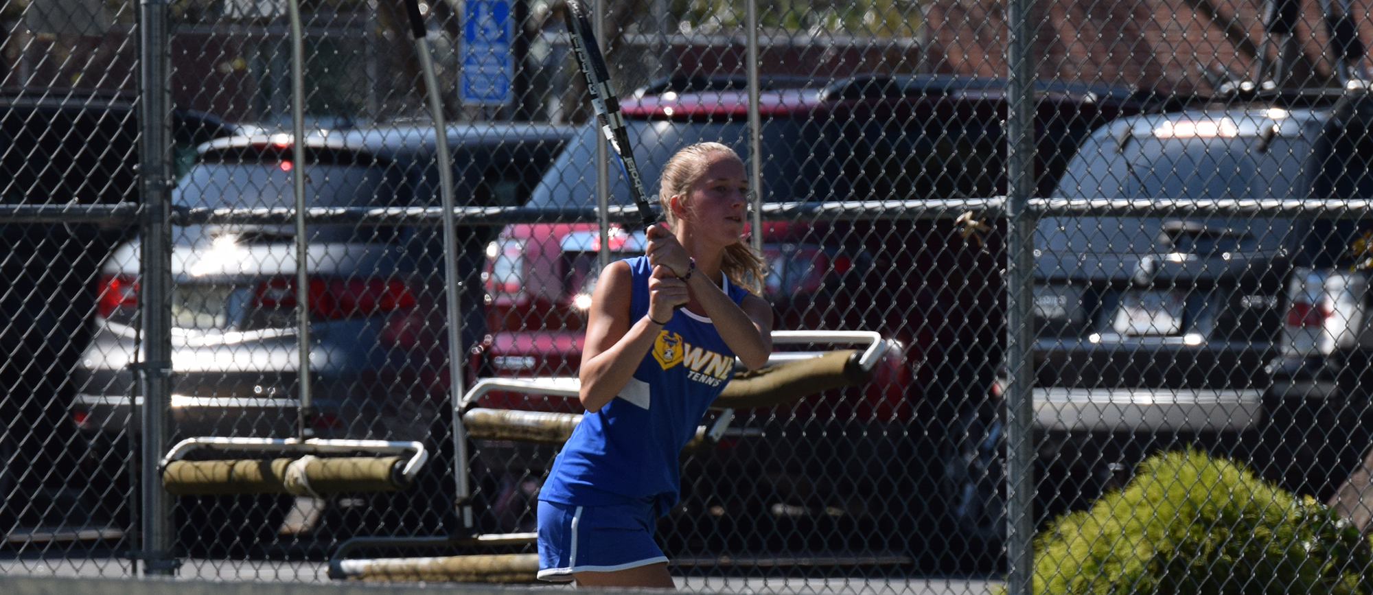 Sophomore Morgan Schrader picked up wins in both singles and doubles play, while classmate Rachel Bauer sealed Western New England's 5-1 victory over Salve Regina on Saturday.